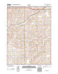 Adair South Iowa Historical topographic map, 1:24000 scale, 7.5 X 7.5 Minute, Year 2013