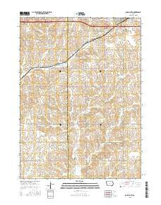 Adair South Iowa Current topographic map, 1:24000 scale, 7.5 X 7.5 Minute, Year 2015