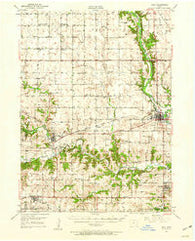 Adel Iowa Historical topographic map, 1:62500 scale, 15 X 15 Minute, Year 1949