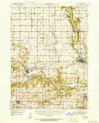 Adel Iowa Historical topographic map, 1:62500 scale, 15 X 15 Minute, Year 1951