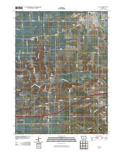 Adel Iowa Historical topographic map, 1:24000 scale, 7.5 X 7.5 Minute, Year 2010