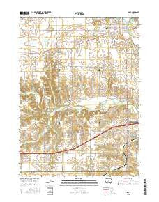 Adel Iowa Current topographic map, 1:24000 scale, 7.5 X 7.5 Minute, Year 2015