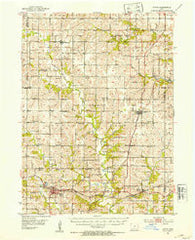 Afton Iowa Historical topographic map, 1:62500 scale, 15 X 15 Minute, Year 1951