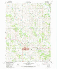 Afton Iowa Historical topographic map, 1:24000 scale, 7.5 X 7.5 Minute, Year 1983