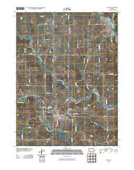 Afton Iowa Historical topographic map, 1:24000 scale, 7.5 X 7.5 Minute, Year 2010