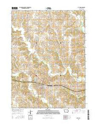 Afton Iowa Current topographic map, 1:24000 scale, 7.5 X 7.5 Minute, Year 2015
