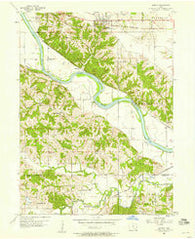 Agency Iowa Historical topographic map, 1:24000 scale, 7.5 X 7.5 Minute, Year 1956