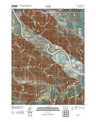 Agency Iowa Historical topographic map, 1:24000 scale, 7.5 X 7.5 Minute, Year 2010