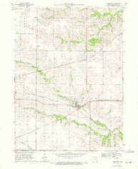 Ainsworth Iowa Historical topographic map, 1:24000 scale, 7.5 X 7.5 Minute, Year 1970