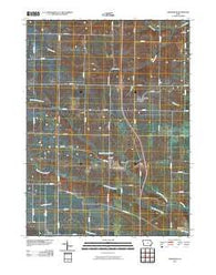 Ainsworth Iowa Historical topographic map, 1:24000 scale, 7.5 X 7.5 Minute, Year 2010