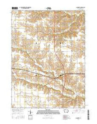 Ainsworth Iowa Current topographic map, 1:24000 scale, 7.5 X 7.5 Minute, Year 2015