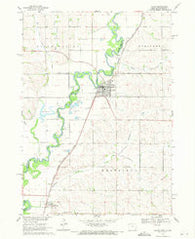 Akron Iowa Historical topographic map, 1:24000 scale, 7.5 X 7.5 Minute, Year 1969