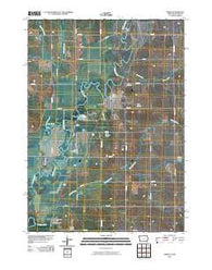 Akron Iowa Historical topographic map, 1:24000 scale, 7.5 X 7.5 Minute, Year 2010