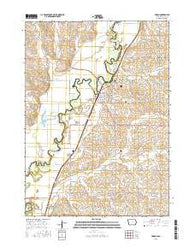 Akron Iowa Current topographic map, 1:24000 scale, 7.5 X 7.5 Minute, Year 2015