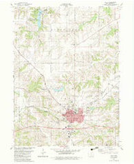 Albia Iowa Historical topographic map, 1:24000 scale, 7.5 X 7.5 Minute, Year 1982