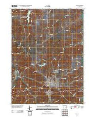 Albia Iowa Historical topographic map, 1:24000 scale, 7.5 X 7.5 Minute, Year 2010