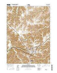 Albia Iowa Current topographic map, 1:24000 scale, 7.5 X 7.5 Minute, Year 2015