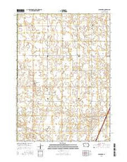 Alexander Iowa Current topographic map, 1:24000 scale, 7.5 X 7.5 Minute, Year 2015 from Iowa Maps Store