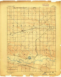 Amana Iowa Historical topographic map, 1:62500 scale, 15 X 15 Minute, Year 1889