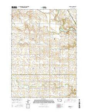 Aureola Iowa Current topographic map, 1:24000 scale, 7.5 X 7.5 Minute, Year 2015 from Iowa Maps Store