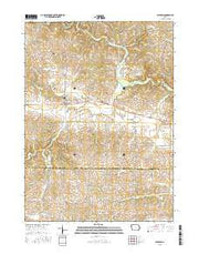 Baldwin Iowa Current topographic map, 1:24000 scale, 7.5 X 7.5 Minute, Year 2015 from Iowa Maps Store