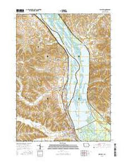 Bellevue Iowa Current topographic map, 1:24000 scale, 7.5 X 7.5 Minute, Year 2015 from Iowa Maps Store