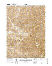 Bernard Iowa Current topographic map, 1:24000 scale, 7.5 X 7.5 Minute, Year 2015 from Iowa Maps Store