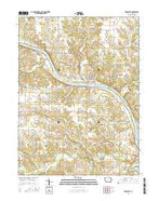 Bonaparte Iowa Current topographic map, 1:24000 scale, 7.5 X 7.5 Minute, Year 2015 from Iowa Map Store