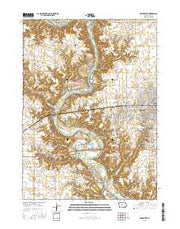 Boone West Iowa Current topographic map, 1:24000 scale, 7.5 X 7.5 Minute, Year 2015 from Iowa Maps Store