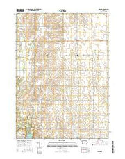 Bremer Iowa Current topographic map, 1:24000 scale, 7.5 X 7.5 Minute, Year 2015 from Iowa Maps Store