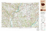 Burlington Iowa Historical topographic map, 1:250000 scale, 1 X 2 Degree, Year 1990