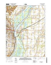 Burlington Iowa Current topographic map, 1:24000 scale, 7.5 X 7.5 Minute, Year 2015 from Iowa Maps Store