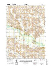 Butler Center Iowa Current topographic map, 1:24000 scale, 7.5 X 7.5 Minute, Year 2015 from Iowa Maps Store