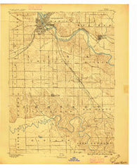 Cedar Rapids Iowa Historical topographic map, 1:62500 scale, 15 X 15 Minute, Year 1887