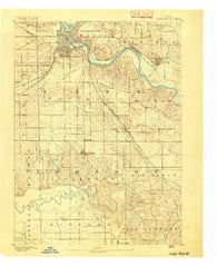Cedar Rapids Iowa Historical topographic map, 1:62500 scale, 15 X 15 Minute, Year 1891