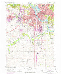 Cedar Rapids South Iowa Historical topographic map, 1:24000 scale, 7.5 X 7.5 Minute, Year 1967