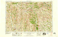 Centerville Iowa Historical topographic map, 1:250000 scale, 1 X 2 Degree, Year 1958