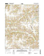 Centerville West Iowa Current topographic map, 1:24000 scale, 7.5 X 7.5 Minute, Year 2015 from Iowa Map Store