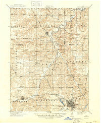 Chariton Iowa Historical topographic map, 1:62500 scale, 15 X 15 Minute, Year 1918