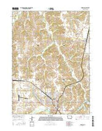 Chariton Iowa Current topographic map, 1:24000 scale, 7.5 X 7.5 Minute, Year 2015 from Iowa Map Store