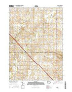 Cheney Iowa Current topographic map, 1:24000 scale, 7.5 X 7.5 Minute, Year 2015 from Iowa Map Store