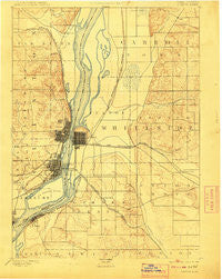 Clinton Iowa Historical topographic map, 1:62500 scale, 15 X 15 Minute, Year 1894