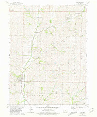 Coin Iowa Historical topographic map, 1:24000 scale, 7.5 X 7.5 Minute, Year 1981