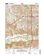 Commerce Iowa Current topographic map, 1:24000 scale, 7.5 X 7.5 Minute, Year 2015 from Iowa Map Store