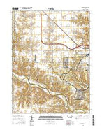 Danville Iowa Current topographic map, 1:24000 scale, 7.5 X 7.5 Minute, Year 2015 from Iowa Map Store