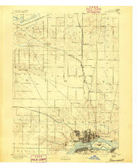 Davenport Iowa Historical topographic map, 1:62500 scale, 15 X 15 Minute, Year 1891