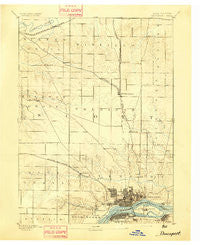 Davenport Iowa Historical topographic map, 1:62500 scale, 15 X 15 Minute, Year 1894