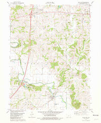 Davis City Iowa Historical topographic map, 1:24000 scale, 7.5 X 7.5 Minute, Year 1981