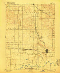 DeWitt Iowa Historical topographic map, 1:62500 scale, 15 X 15 Minute, Year 1891