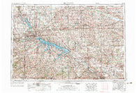 Des Moines Iowa Historical topographic map, 1:250000 scale, 1 X 2 Degree, Year 1954